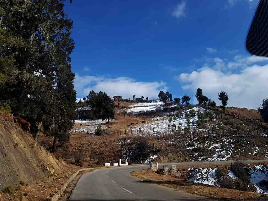 Scenic Drive to Ura Valley from Bumthang