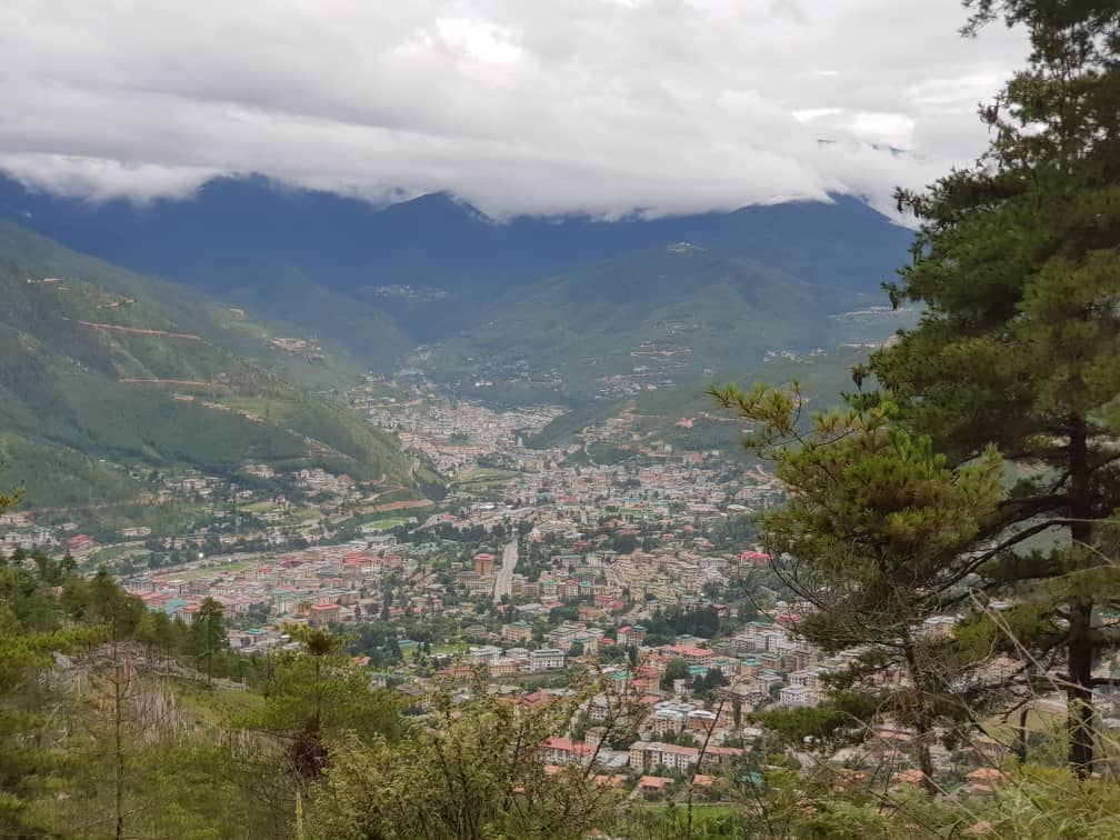 View of Thimphu Valley