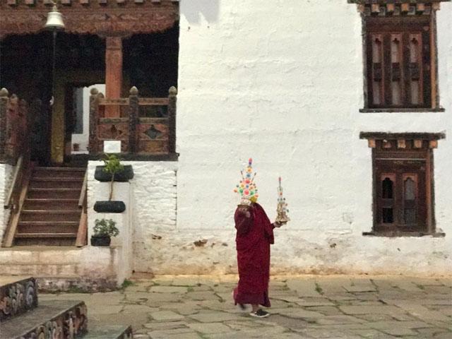 Monk At Talo Monastery