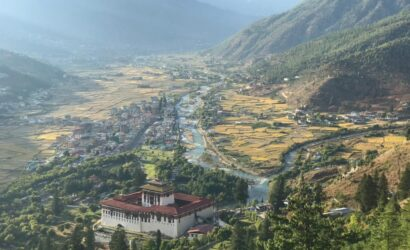 Panoramic view of Paro Valley