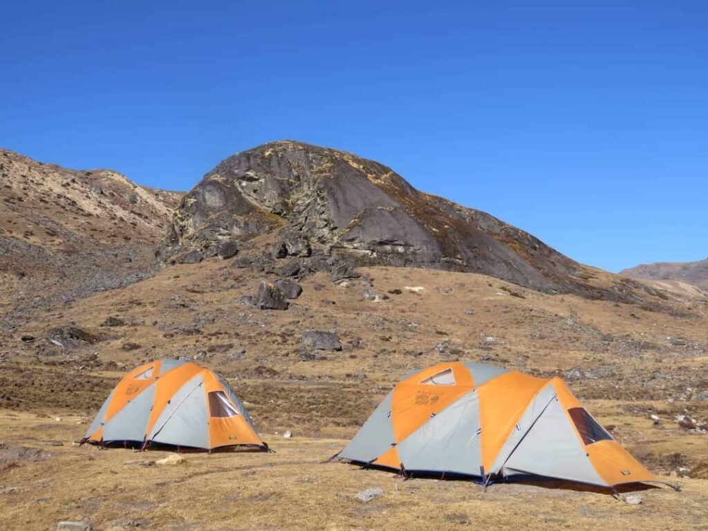 Camping Site at Dagala Thousand Lakes Trek