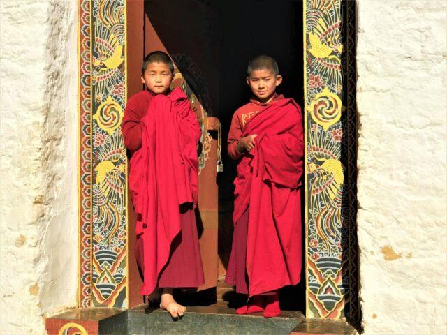 Monk at Simtokha Dzong , Thimphu