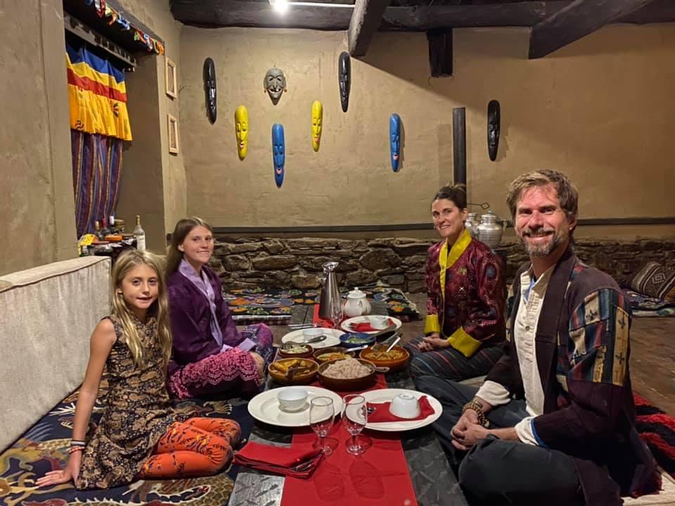 Bhutanese Farm house lunch