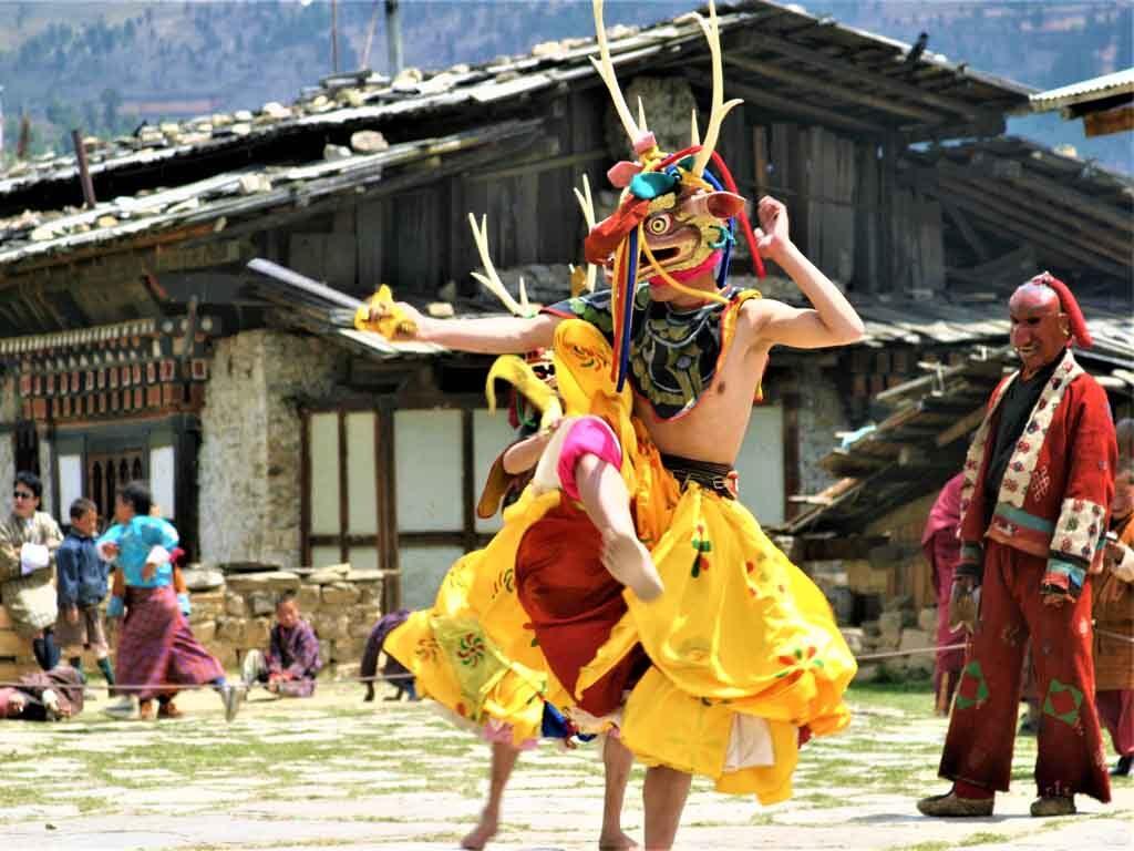 Bhutan Festival Mask Dance