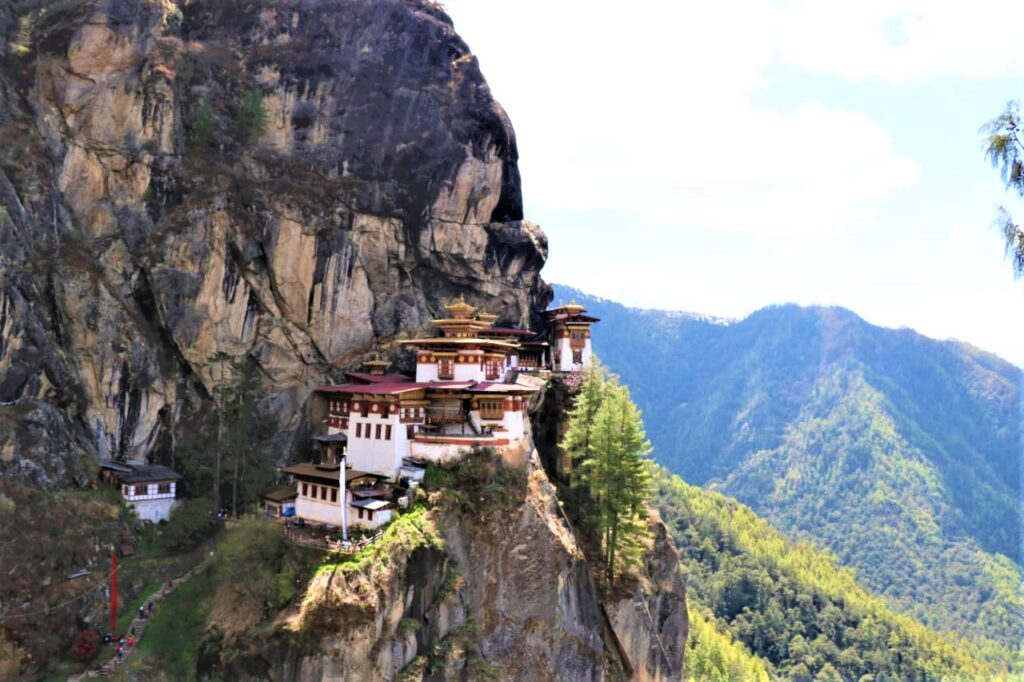 Tiger's Nest Monastery perched on cliff edge